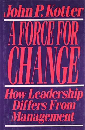 John P. Kotter Force For Change How Leadership Differs From Management