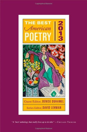 David Lehman The Best American Poetry 2013