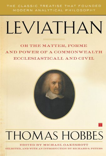 Thomas Hobbes Leviathan Or The Matter Forme And Power Of A Commonwealth