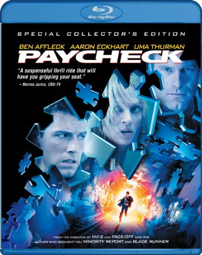 Paycheck Affleck Eckhart Thurman Blu Ray Ws Pg13