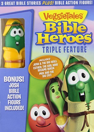 Bible Heroes Triple Feature Veggietales Ws Nr Incl. Toy