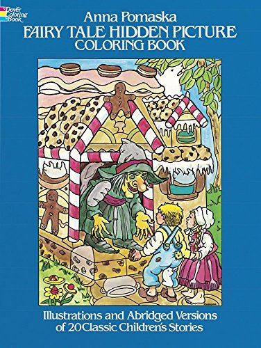 Anna Pomaska Fairy Tale Hidden Picture Coloring Book 0080 Edition;