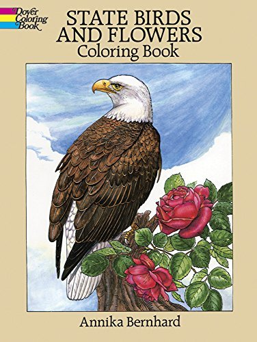 Annika Bernhard State Birds And Flowers Coloring Book