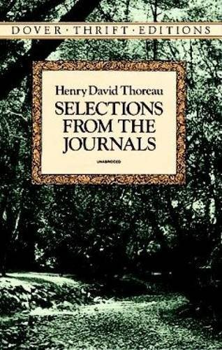 Henry David Thoreau Selections From The Journals