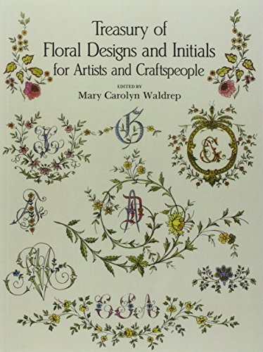 Mary Carolyn Waldrep Treasury Of Floral Designs And Initials For Artist