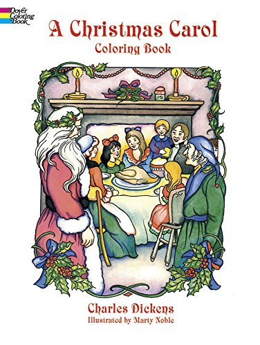 Charles Dickens A Christmas Carol Coloring Book Abridged