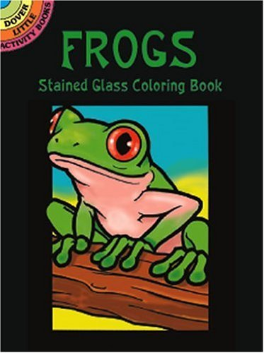 John Green Frogs Stained Glass Coloring Book