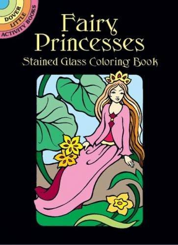 Marty Noble Fairy Princesses Stained Glass Coloring Book