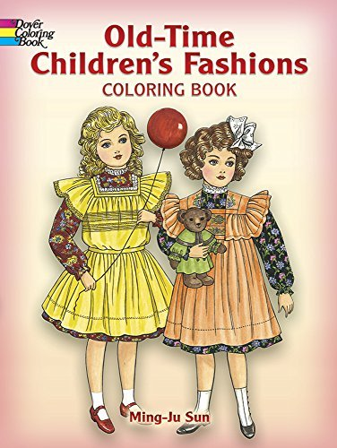 Ming Ju Sun Old Time Children's Fashions Coloring Book