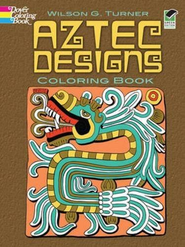 Wilson G. Turner Aztec Designs Coloring Book Green