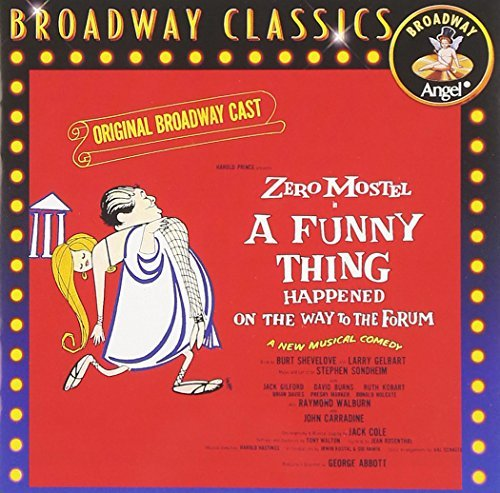 Broadway Cast Funny Thing Happened On The Wa Music By Stephen Sondheim