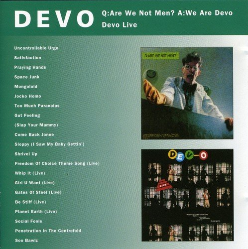 Devo Are We Not Men? We Are Devo Li Import Eu Incl. Bonus Tracks