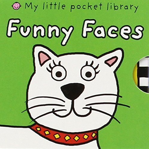 Roger Priddy My Little Pocket Library Funny Faces 6 Books! Dizzy Dragon Rocky Dog Millie Cow Ali