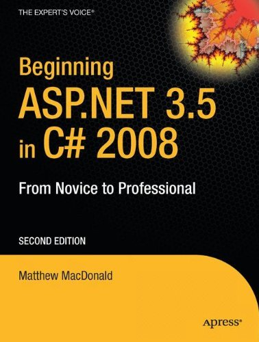 Matthew Macdonald Beginning Asp.Net 3.5 In C# 2008 From Novice To Professional 0002 Edition;corrected Cor