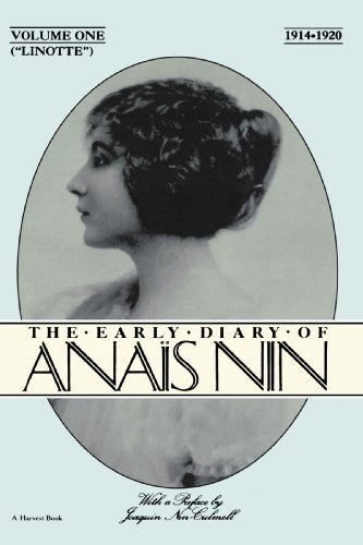 Anais Nin Lionette The Early Diary Of Anais Nin 1914 1920