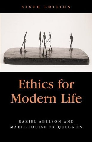 Raziel Abelson Ethics For Modern Life 0006 Edition;