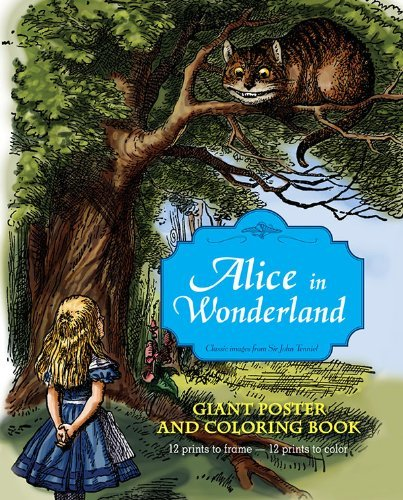 John Tenniel Alice In Wonderland Giant Poster And Coloring Book
