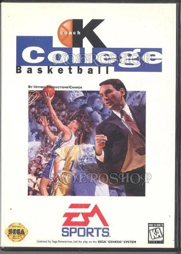Sega Genesis Coach K College Basketball