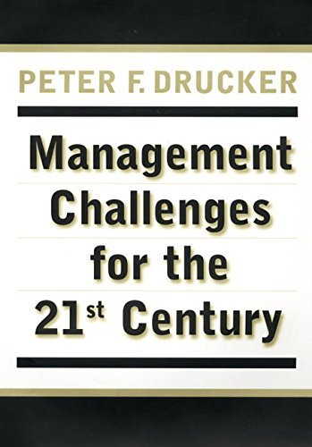 Peter F. Drucker Management Challenges For The 21st Century