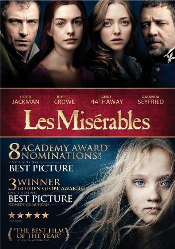 Les Miserables (2012) Jackman Hathaway Seyfried Crow DVD Pg13 Ws