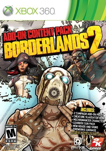 Xbox 360 Borderlands 2 Add On Content Pack