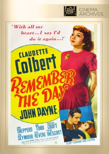 Remember The Day Colbert Payne Strudwick Todd C DVD R Bw Nr