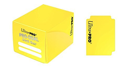 Deck Box Pro Dual Yellow Holds 120 Cards