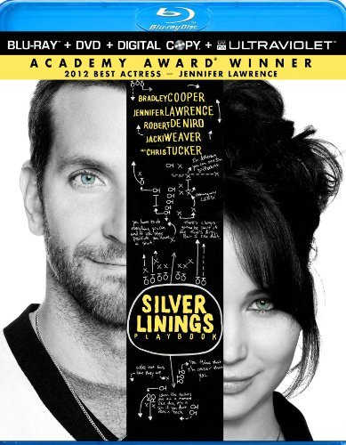 Silver Linings Playbook Cooper Lawrence Deniro Blu Ray DVD Dc Uv R Ws