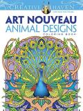 Marty Noble Creative Haven Art Nouveau Animal Designs Coloring First Edition
