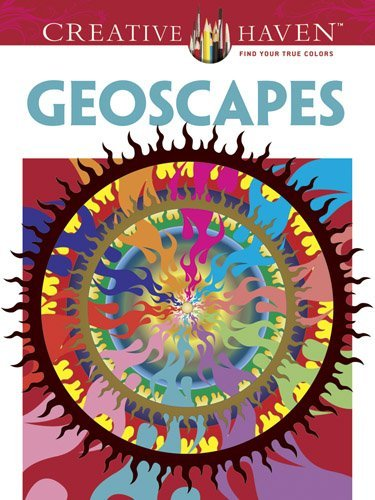 Hop David Creative Haven Geoscapes Coloring Book First Edition