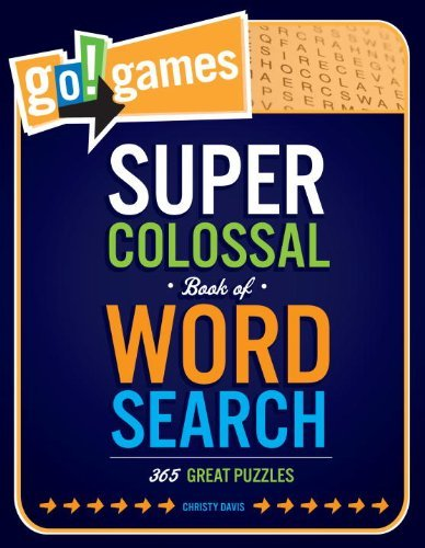 Christy Davis Go!games Super Colossal Book Of Word Search 365 Great Puzzles