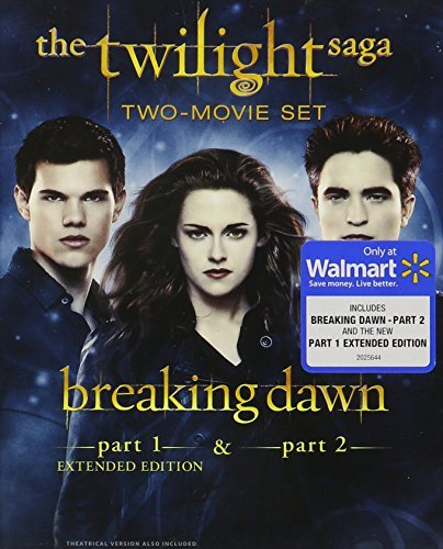 Twilight Breaking Dawn Parts 1 & 2 Pattinson Stewart Lautner Blu Ray Dc Uv Extended Edition Pg13 Ws