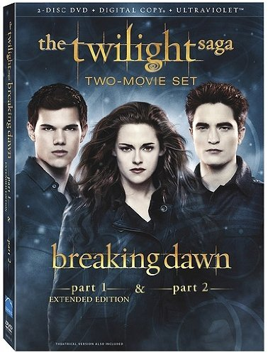 Twilight Breaking Dawn Parts 1 & 2 Pattinson Stewart Lautner DVD Pg13 Ws
