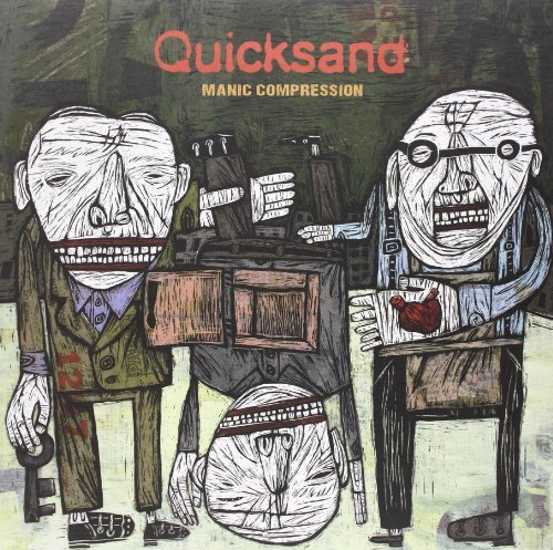 Quicksand Manic Compression Very Limited 180 Gram White With Black Haze Vinyl
