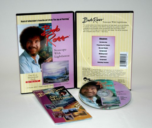 Bob Ross The Joy Of Painting Seascape With Lighthouse DVD