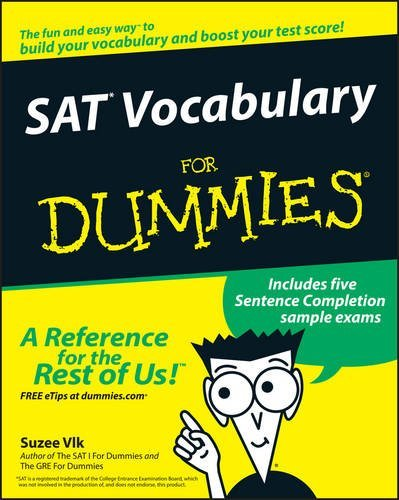 Suzee Vlk Sat Vocabulary For Dummies