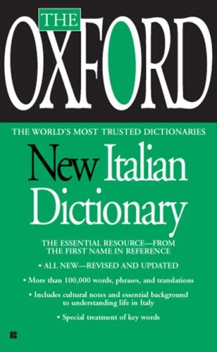 Oxford University Press The Oxford New Italian Dictionary Italian English English Italian Italiano Inglese