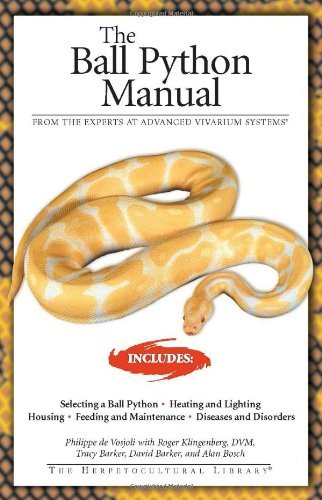 Philippe De Vosioli The Ball Python Manual Updated