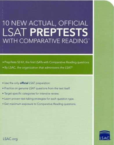Wendy Margolis 10 New Actual Official Lsat Preptests With Compar