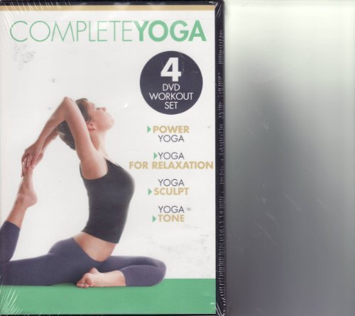 Gaiam Complete Yoga 4 DVD Set Power Yoga For Rel