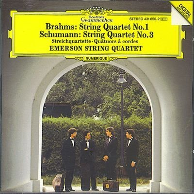Johannes Brahms Robert Schumann Emerson String Qua Brahms String Quartet No.1 In C Minor Op. 51 1