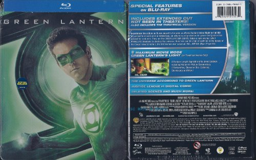 Green Lantern Blu Ray Steelbook Best Buy Exclu Blu Ray Steelbook