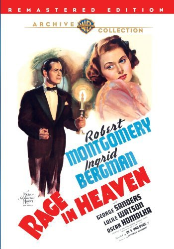 Rage In Heaven (1941) Montgomery Bergman Sanders Made On Demand Nr