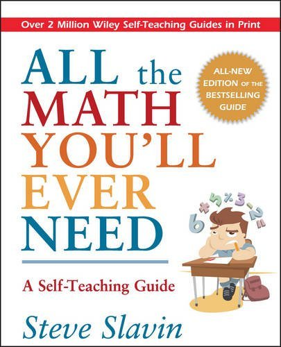 Steve Slavin All The Math You'll Ever Need A Self Teaching Guide Rev
