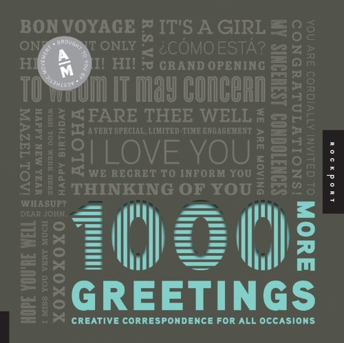 Aesthetic Movement 1 000 More Greetings Creative Correspondence For All Occasions