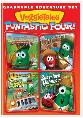 Veggie Tales Funtastic Four Quadruple Adventure Set Nr Ff