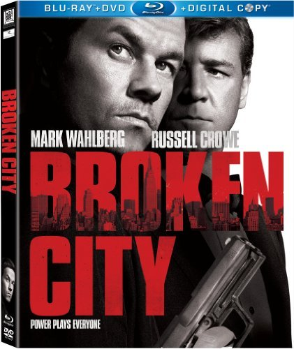 Broken City Wahlberg Zeta Jones Crowe Blu Ray Ws R Incl. DVD Dc