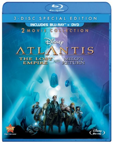 Atlantis The Lost Empire Milo's Return Disney Blu Ray DVD Pg