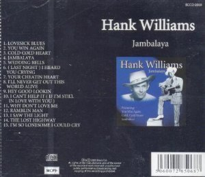 Hank Sr. Williams Jambalaya