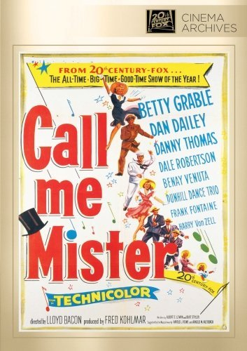 Call Me Mister Grable Dailey Thomas Robertson DVD R Nr